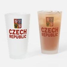 Czech Coat of Arms Drinking Glass