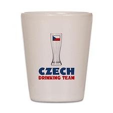 Czech Drinking Team Shot Glass