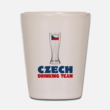 Czech Drinking Team Shot Glass