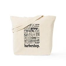 Barbershop Music Gift Tote Bag