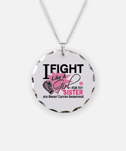 Fight Like A Girl Breast Cancer Necklace