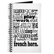 French Horn Music Gift Journal