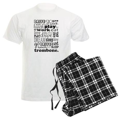 Trombone Music Gift Men's Light Pajamas