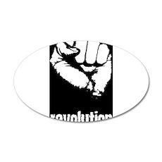 Fist 22x14 Oval Wall Peel