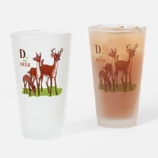 'D' is for Deer Drinking Glass
