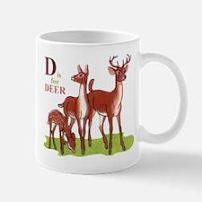 'D' is for Deer Mug