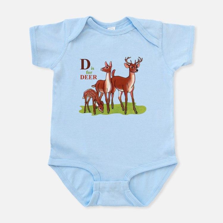 'D' is for Deer Infant Bodysuit