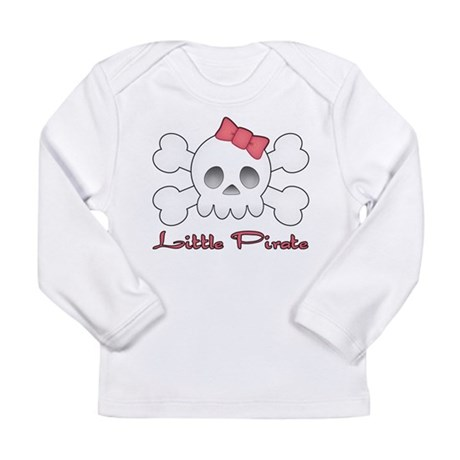 Little Pink Pirate Long Sleeve Infant T-Shirt