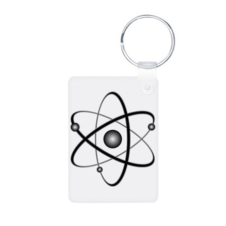 Atomic Aluminum Photo Keychain