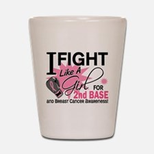 Fight Like A Girl Breast Cancer Shot Glass