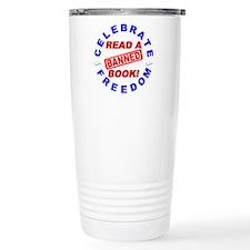 Read a Banned Book! Travel Coffee Mug