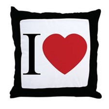 I LOVE (Heart) Throw Pillow