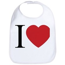 I LOVE (Heart) Bib