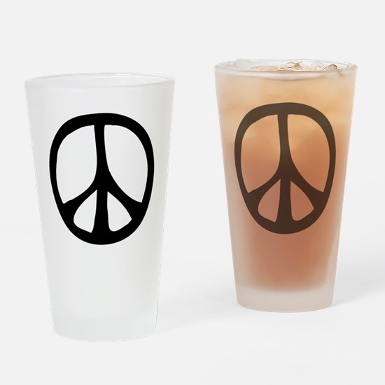 Flowing Peace Sign Drinking Glass