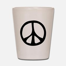 Flowing Peace Sign Shot Glass