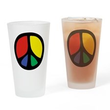 Flowing Peace Color Drinking Glass