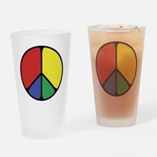 Elegant Peace Color Drinking Glass