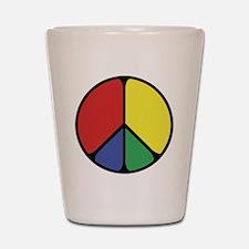 Elegant Peace Color Shot Glass