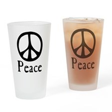 Flowing 'Peace' Sign Drinking Glass