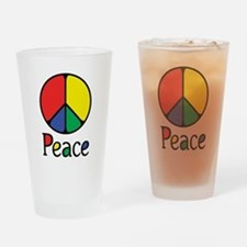 Emphatic Peace Colours Drinking Glass