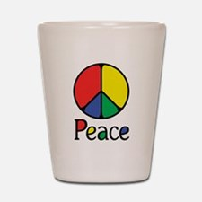 Emphatic Peace Colours Shot Glass