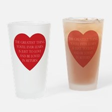 Love and be Loved Drinking Glass