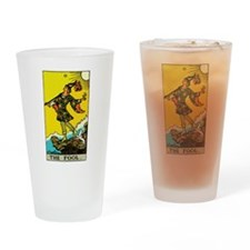 The Fool Tarot Card Drinking Glass