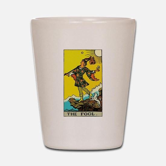 The Fool Tarot Card Shot Glass