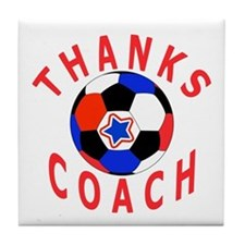 Soccer Coach Thank You Tile Coaster