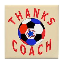 Soccer Coach Thank You Tile Coaster