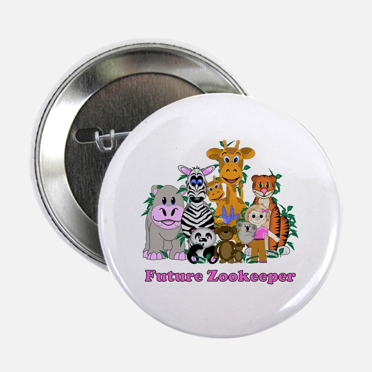 "Future Zookeeper Girl 2.25"" Button"