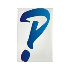 Interrobang Rectangle Magnet