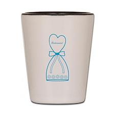 Blue Bridesmaid Dress Shot Glass