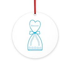 Blue Bridesmaid Dress Ornament (Round)