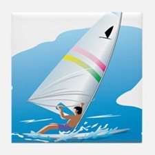 windsurfer Tile Coaster