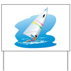 windsurfer Yard Sign