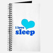 I Love Sleep (blue) Journal