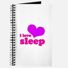 I Love Sleep (pink) Journal