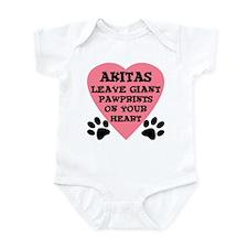 Akita Pawprints Infant Bodysuit
