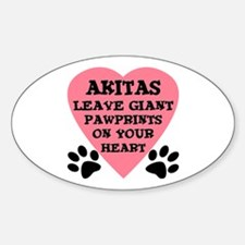 Akita Pawprints Decal