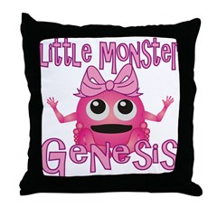 Little Monster Genesis Throw Pillow