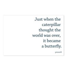 """Caterpillar Proverb"" Postcards (Package of 8)"