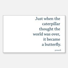 """Caterpillar Proverb"" Decal"