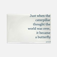 """Caterpillar Proverb"" Rectangle Magnet"
