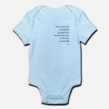 """Caterpillar Proverb"" Infant Bodysuit"