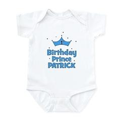 1st Birthday Prince PATRICK! Infant Bodysuit