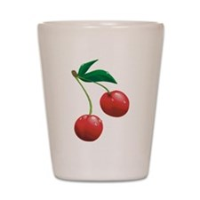Cherries Shot Glass