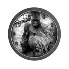 Vintage Black & White Gorilla Wall Clock