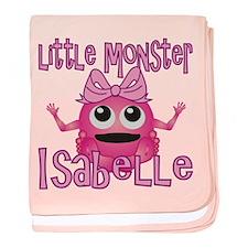 Little Monster Isabelle baby blanket