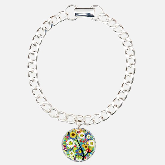 summer tree Charm Bracelet, One Charm